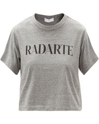 Rodarte ロゴ クロップドtシャツ - グレー