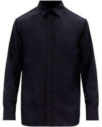 The Row Robin Cashmere-poplin Shirt - Blue