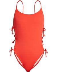 Solid & Striped - The Lily Tie Side Swimsuit - Lyst