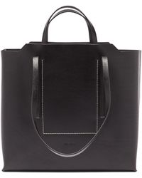 Rick Owens Groppone Leather Tote Bag - Black