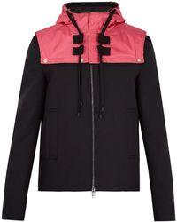 Valentino - Veste en sergé de laine à capuche amovible - Lyst