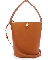 Sophie Hulme Large Swing Leather Bucket Bag - Brown