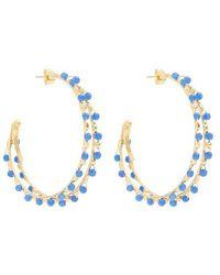 Rosantica By Michela Panero - Angola Bead-embellished Hoop Earrings - Lyst