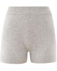 Extreme Cashmere Very Elasticated-waist Cashmere Shorts - Grey