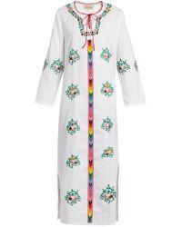 Muzungu Sisters - Jasmine Floral Embroidered Cotton Dress - Lyst