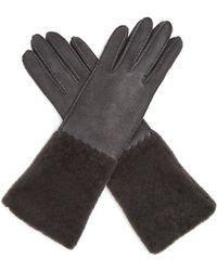 Bottega Veneta | Suede And Shearling Gloves | Lyst