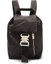 1017 ALYX 9SM Rollercoaster-buckle Shell Backpack - Black