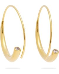 Ryan Storer - Crystal Tip Hoop Earrings - Lyst