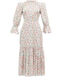 The Vampire's Wife - Floral Song Bird Printed Cotton Dress - Lyst