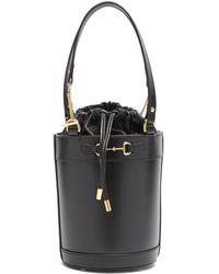 Gucci ホースビット 1955 レザーバケットバッグ - ブラック
