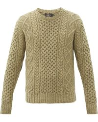 RRL Donegal Cable-knit Wool Jumper - Natural