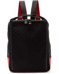 Christian Louboutin Hop'n'zip Logo-embossed Canvas Backpack - Black