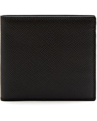 Smythson Panama Bi-fold Leather Wallet - Black