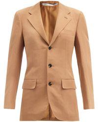 Umit Benan B+ Andy Slubbed-poplin Suit Jacket - Brown
