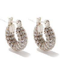 Fallon Doughnut Zircon &14kt White Gold-plated Earrings - Metallic