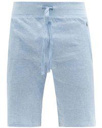 Polo Ralph Lauren コットンブレンド ワッフルショートパンツ - ブルー