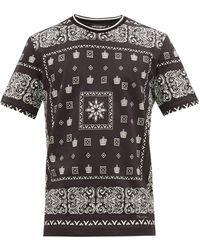 Dolce & Gabbana - バンダナ コットンtシャツ - Lyst