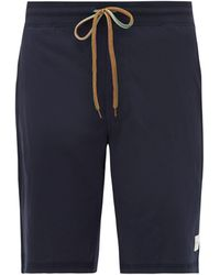 Paul Smith Short de pyjama en jersey de coton à cordon rayé - Bleu