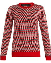 Perfect Moment - Frequency Zigzag Intarsia Wool Knit Sweater - Lyst