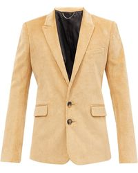 Paco Rabanne Single-breasted Cotton-corduroy Jacket - Natural