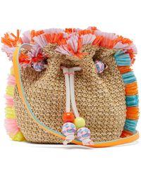 Sophia Webster Emmie Fringed Raffia Bucket Bag - Natural