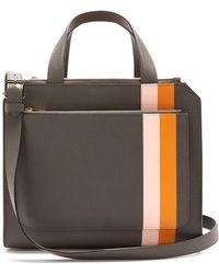 Valextra - Passepartout Medium Striped Leather Bag - Lyst