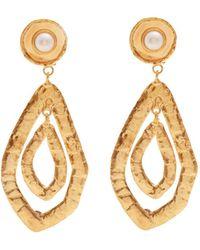 Sylvia Toledano - Pearl-embellished Teardrop Clip-on Earrings - Lyst