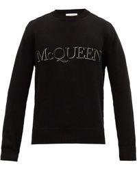 Alexander McQueen クルーネックセーター - ブラック