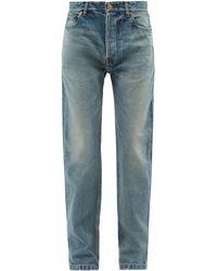 Balenciaga ハイライズ ストレートジーンズ - ブルー