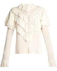 Rodarte - Ruffled Silk Blouse - Lyst