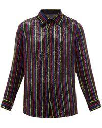 Ashish Sequin-embellished Chiffon Shirt - Black