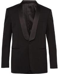 CALVIN KLEIN 205W39NYC Silk Lapel Single Breasted Wool Tuxedo Jacket - Black