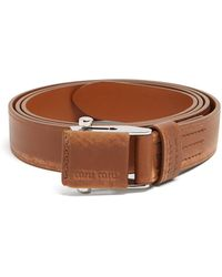 Miu Miu   Distressed Leather Belt   Lyst