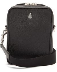 Mark Cross Scott Grained-leather Cross-body Bag - Black