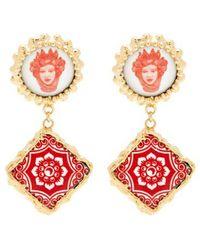 Rosantica By Michela Panero - Ciucciue Face & Tile Drop Earrings - Lyst