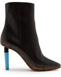 Vetements - Highlighter-heel Leather Ankle Boots - Lyst