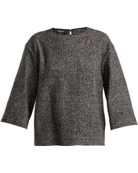 Rochas - Prince Of Wales Check Wool Blend Top - Lyst