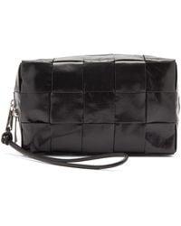 Bottega Veneta Intrecciato-leather Wash Bag - Black