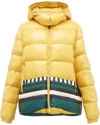 1 MONCLER PIERPAOLO PICCIOLI Gabrielle Striped Down-filled Jacket - Yellow