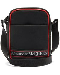 Alexander McQueen - ロゴプリント キャンバス クロスボディバッグ - Lyst
