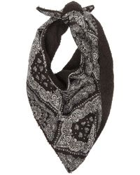 Satisfy Paisley-print Cotton & Performance-fleece Bandana - Black