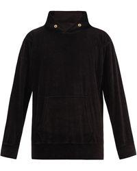 Les Tien Cotton-blend Velour Hooded Sweatshirt - Black