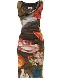 Vivienne Westwood ジニー フローラル サテンドレス - マルチカラー