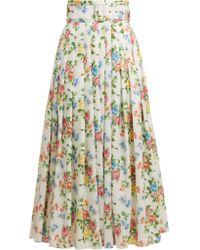 Emilia Wickstead - High Rise Floral Print Midi Skirt - Lyst