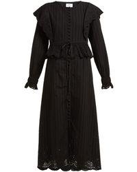 SIR - Leila Broderie-anglaise Cotton Midi Dress - Lyst