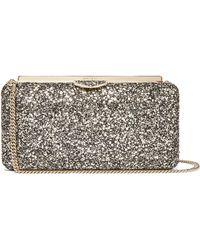 Jimmy Choo - Ellipse Glitter Embellished Clutch Bag - Lyst