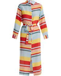 Beautiful Bottoms | Striped Silk Shirtdress | Lyst