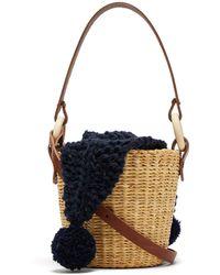 Muuñ - Seau Wool And Woven-straw Bucket Bag - Lyst