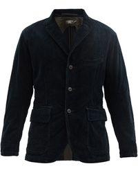 RRL コットンコーデュロイ シングルジャケット - ブルー