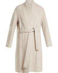 Vince - Tie Waist Wool Blend Coat - Lyst